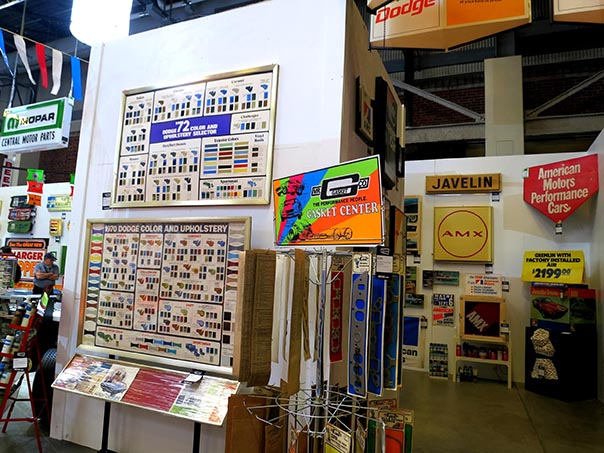 Posters, signs, and license plates from Steven Juliano's private museum.