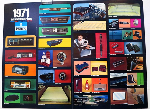 Poster of 1971 Chrystler n parts accessories.