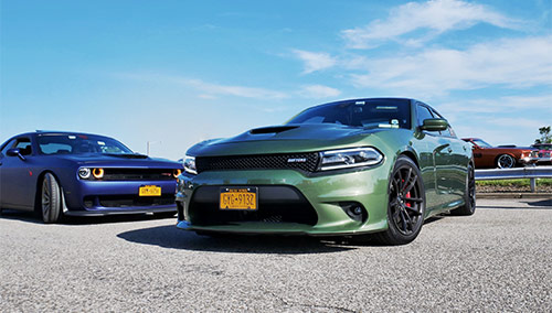 @3goblin's Charger and @cruzzinlow's Challenger