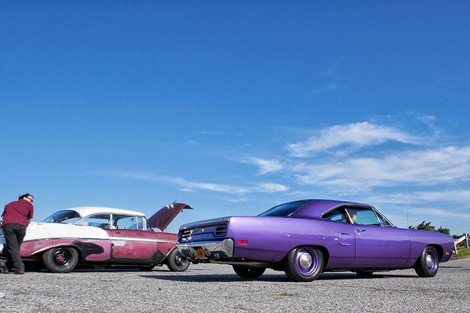 Rows of cars at Oak Beach Long Island NY C&C