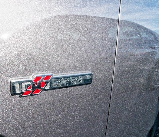 Custom badge: 100 Dodge Est. 1914