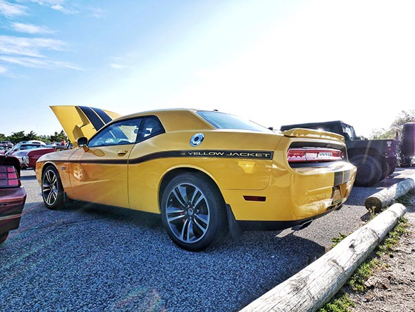 Side view of Challenger SRT Scat Pack