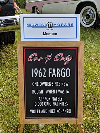 1962 Fargo sign