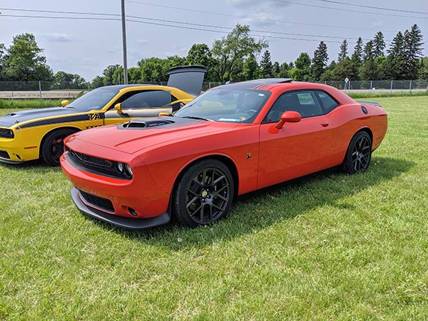 Red Challenger Scat Pack at Mopars in the Park