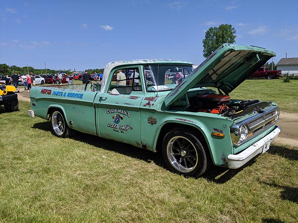 Classic truck on display at Mopars in the Park