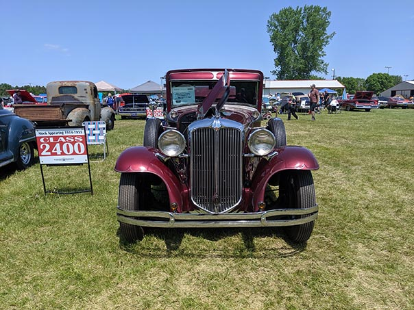 Classic cars on display at Mopars in the Park