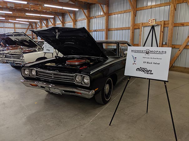 Black Roadrunner on display at Mopars in the Park