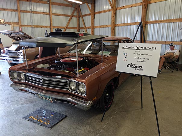 Bronze Roadrunner on display at Mopars in the Park