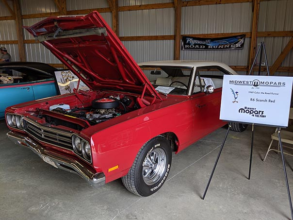 Red Roadrunner on display at Mopars in the Park