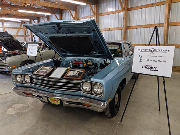 Blue Roadrunner on display at Mopars in the Park