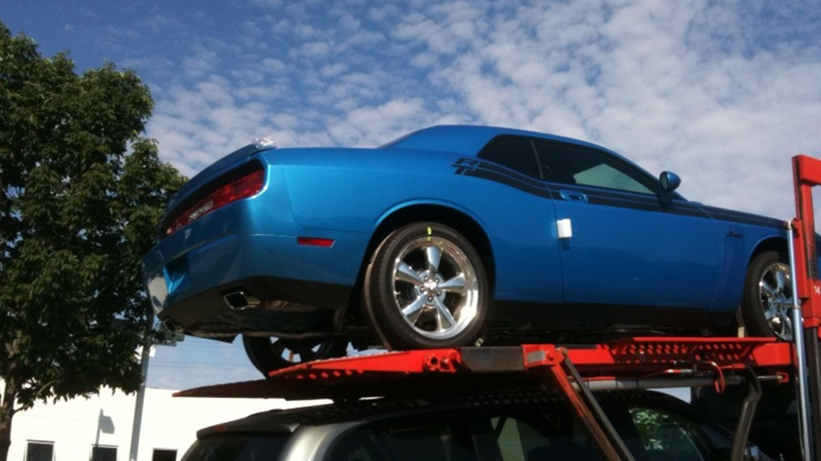 a 2009 Challenger R/T Classic in B5 Blue