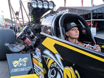 leah pritchett in her top fuel dragster