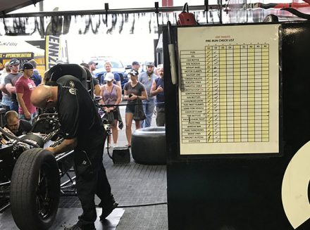 check list in for matt hagan's pit crew
