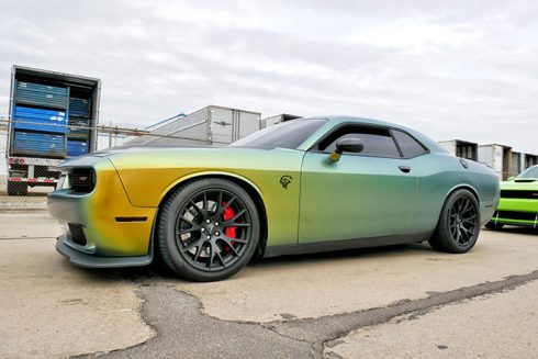 a multicolored vehicle