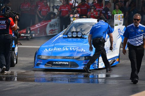 funny car in the wet box