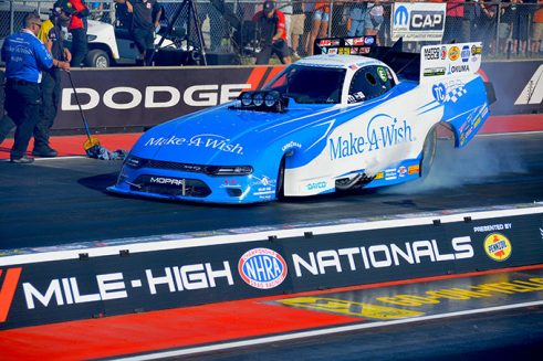 funny car at the starting line