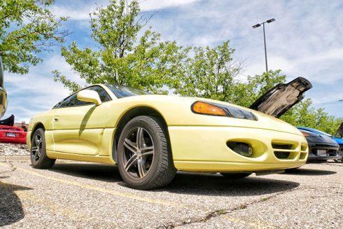 a yellow vehicle