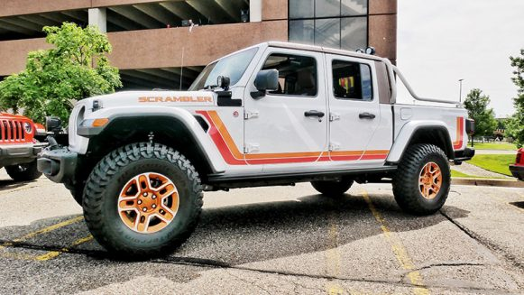 a white jeep gladiator
