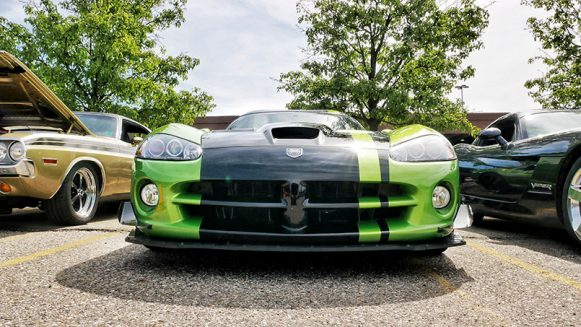 a green and black vehicle