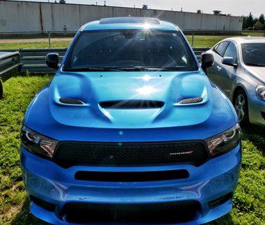 blue dodge vehicle