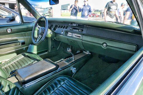 green car interior