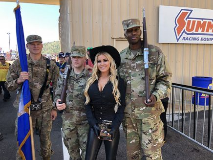 carmen electra with US soldiers