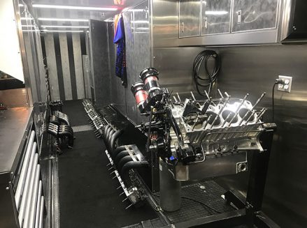 tools and vehicle parts in leah pritchett's trailer