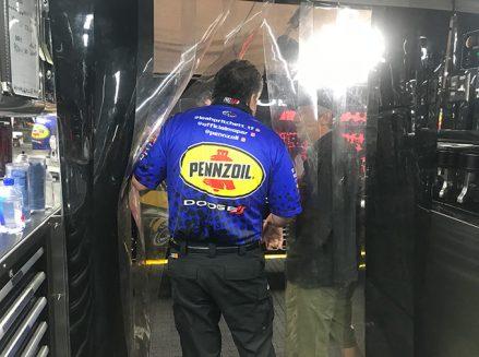 inside leah pritchett's pit area