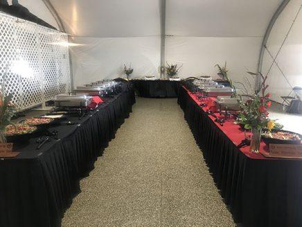 food buffet set up