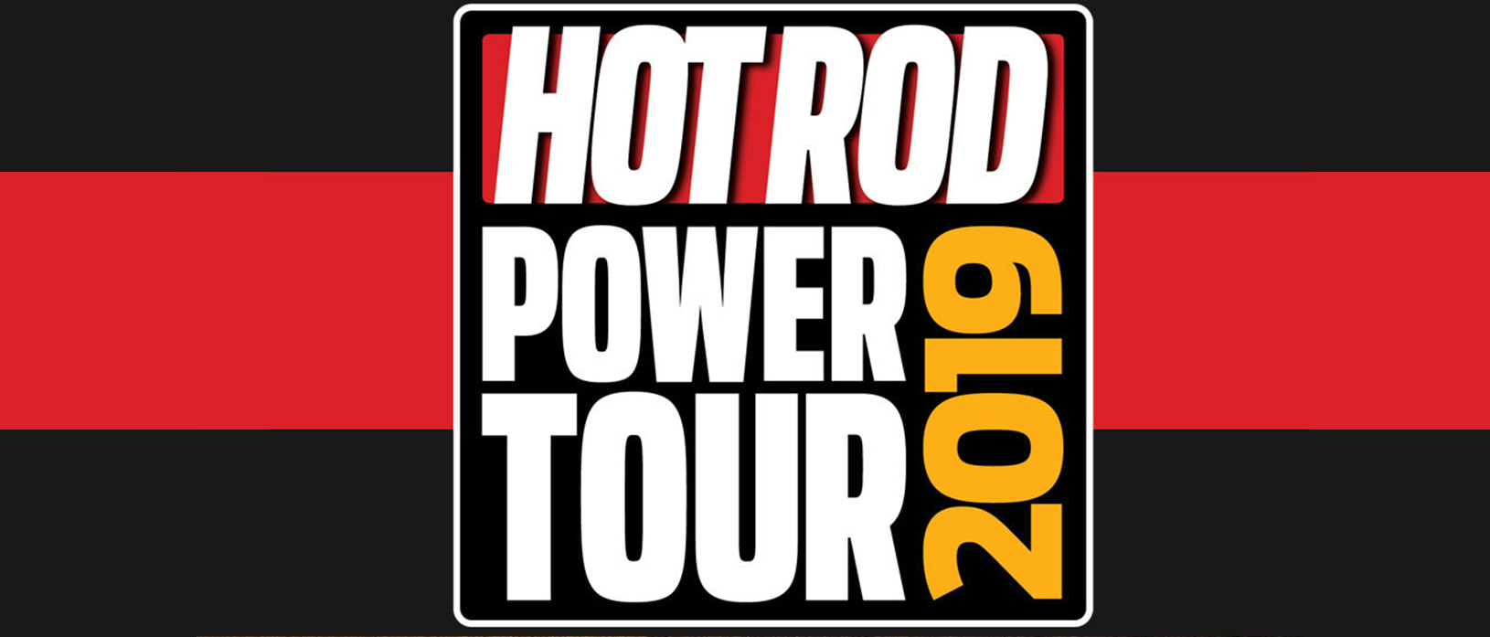 hot rod power tour 2019 black and red banner