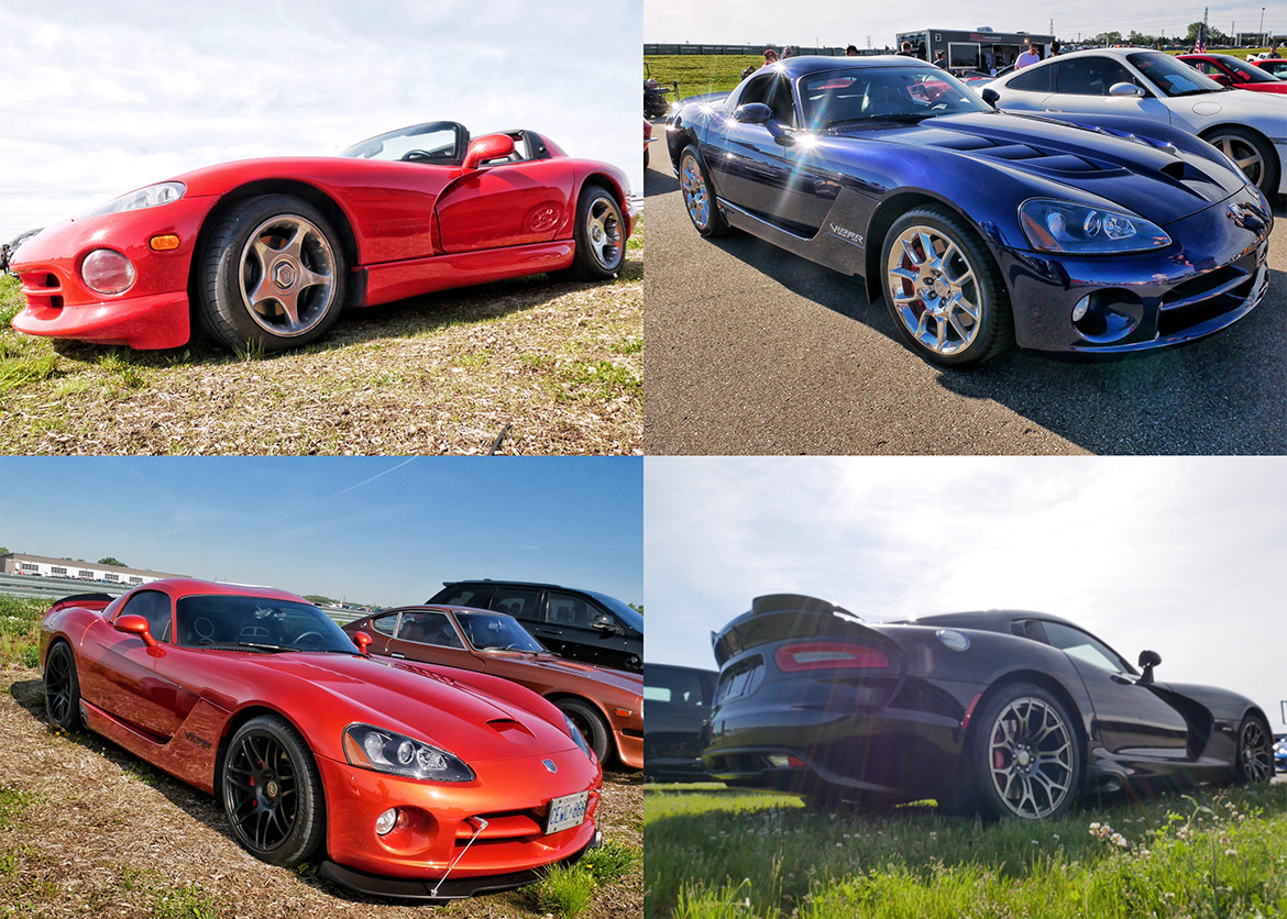 second, third, fourth and fifth generation dodge vipers