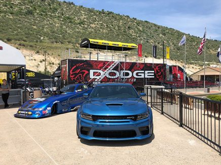 2020 dodge charger srt hellcat widebody funny car next to a 2020 charger srt hellcat widebody
