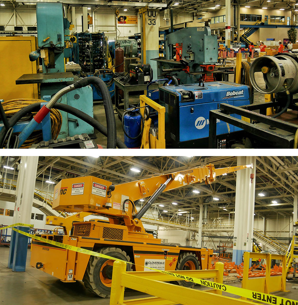 equipment inside an assembly plant