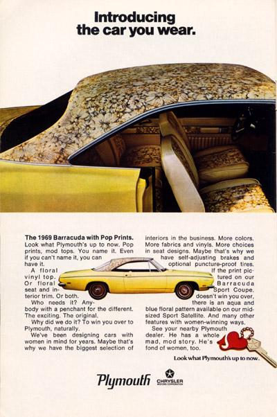 a 1969 barracuda advertisement