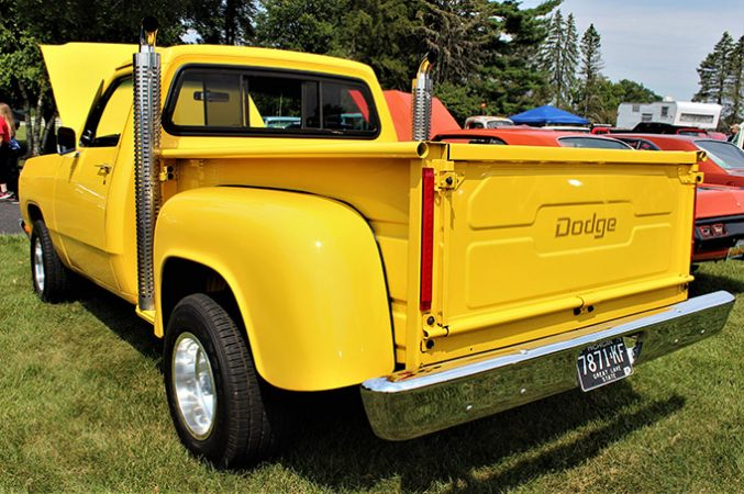 dodge vehicle on display