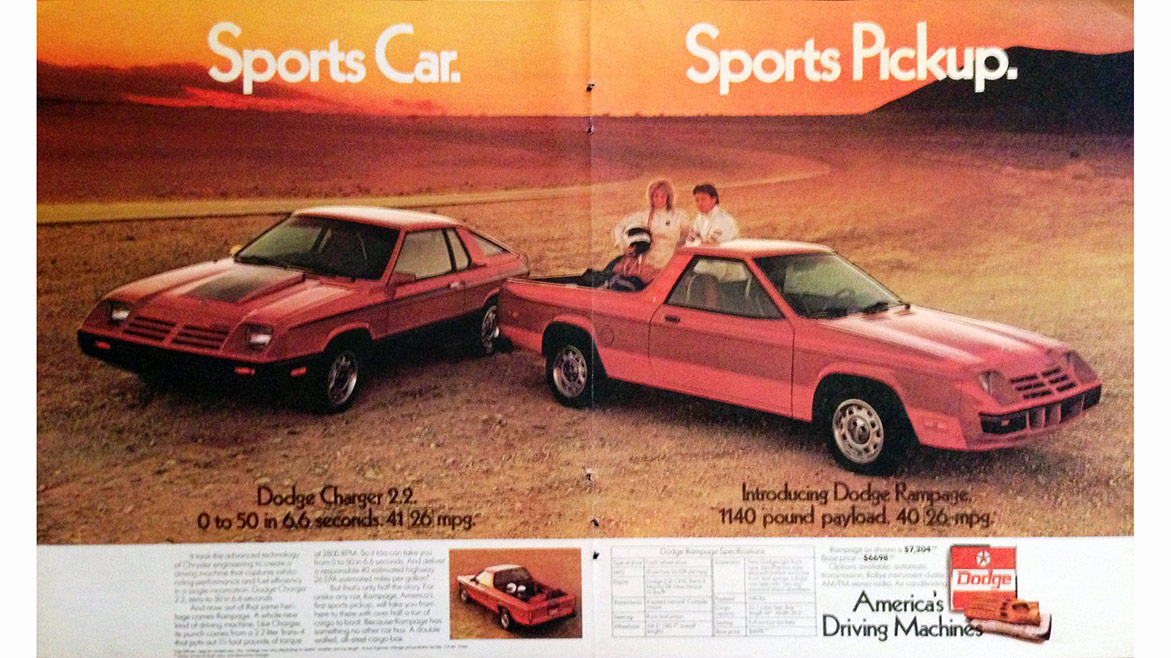 dodge vehicles in magazine