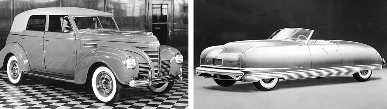1939 Plymouth Deluxe Convertible  Sedan and 1940 Chrysler Thunderbolt