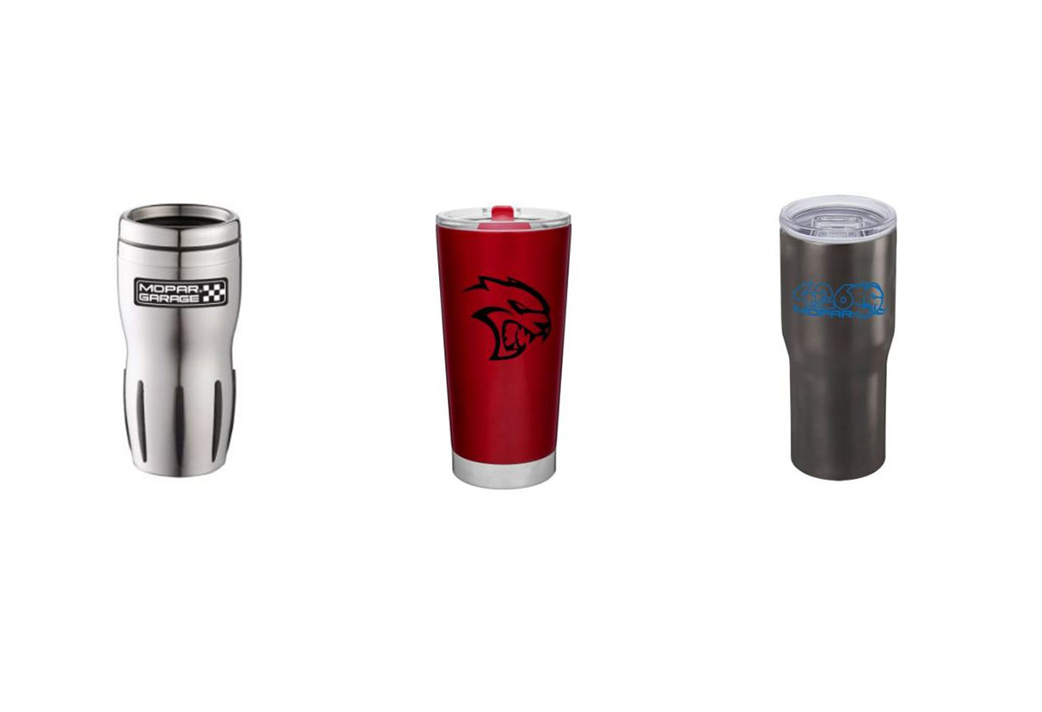three drinkware options