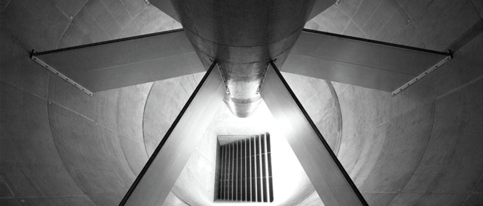 inside a wind tunnel