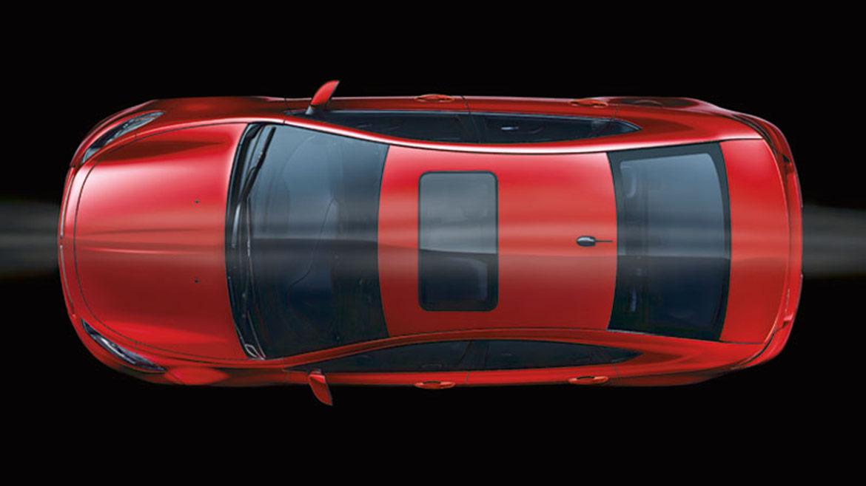 overhead view of dodge vehicle