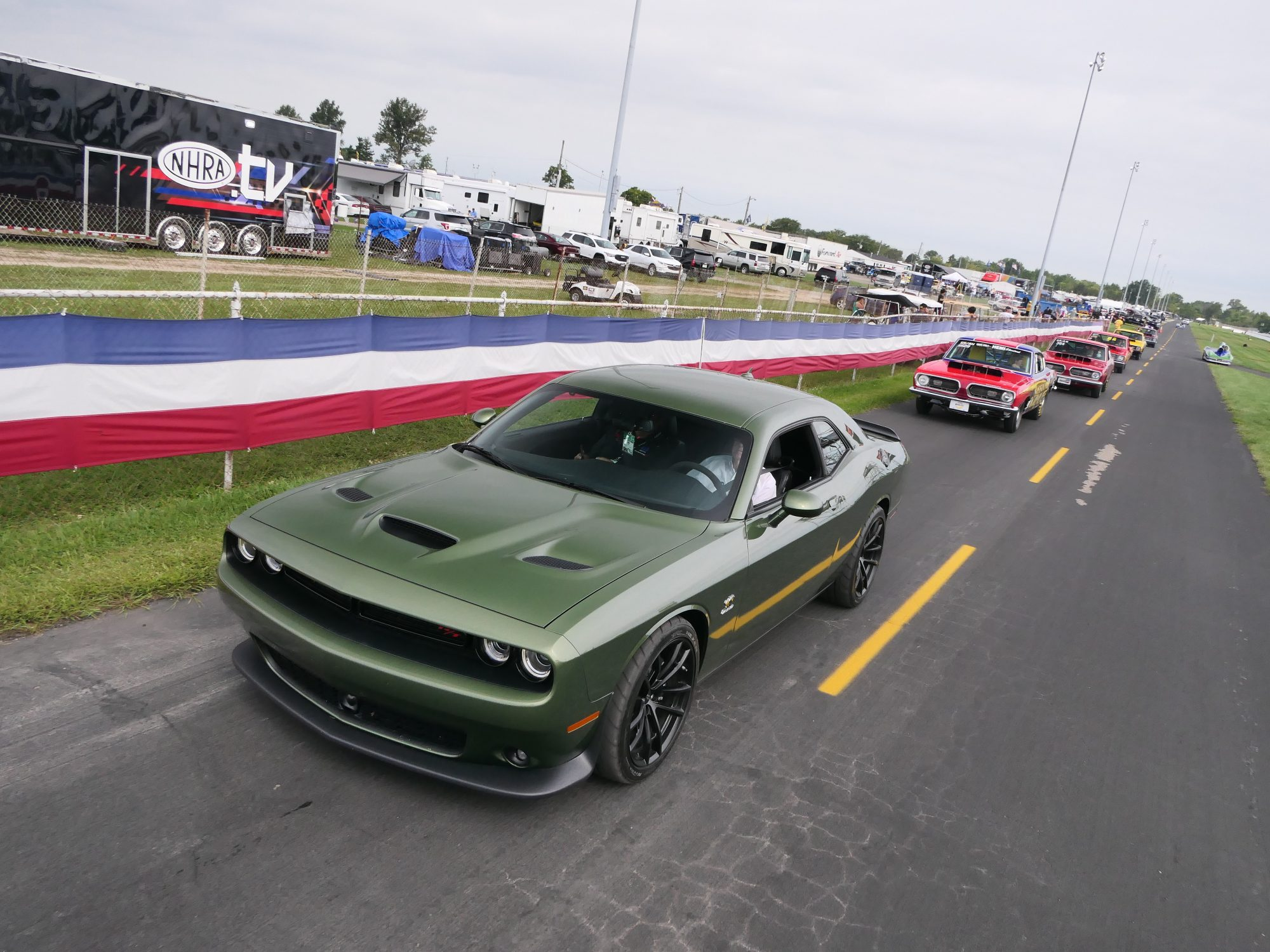 dodge vehicles lined up