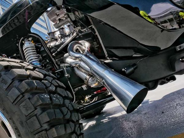 underside of a vehicle
