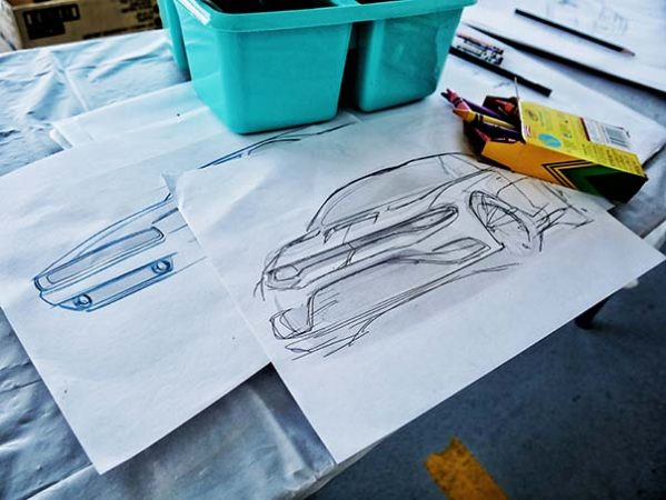 vehicle sketch