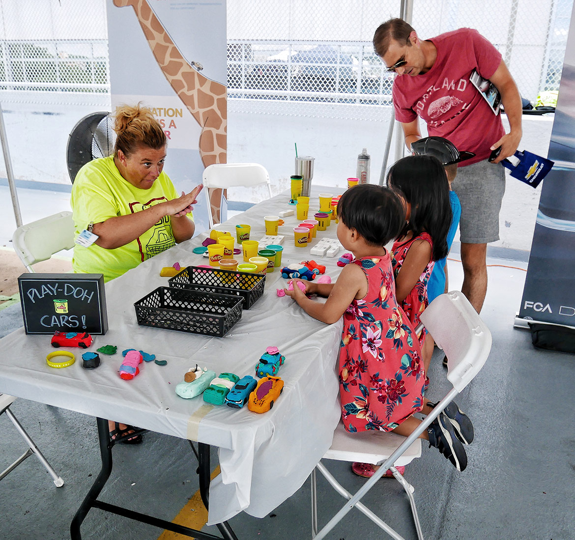 children playing with craft supplies