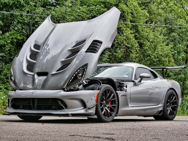 Dodge Viper ACR-e with the hood open