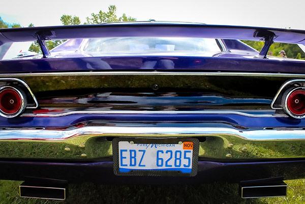 back of dodge vehicle