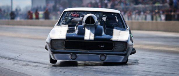 vehicle on race track