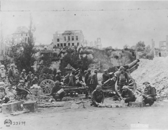 155mm Howitzers at Battle of Varennes