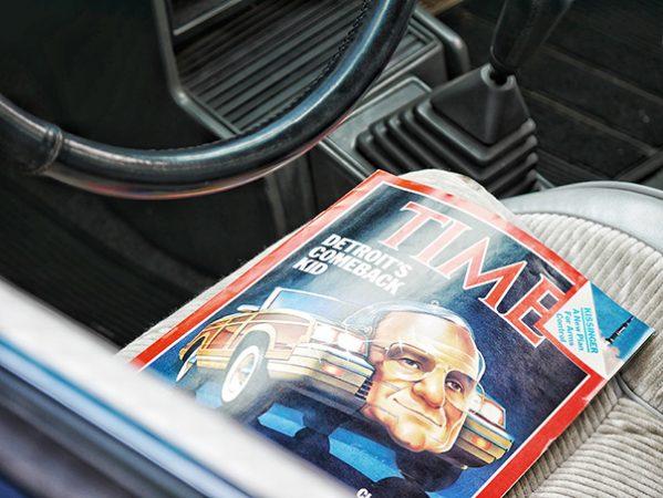 TIME magazine inside a vehicle
