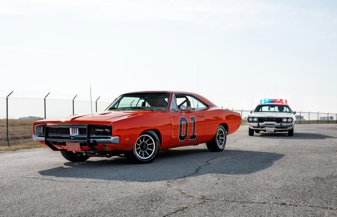 """1969 Dodge Charger R/T Custom """"General Lee"""" AND 1973 Plymouth Satellite Custom Coupe"""